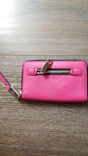 Marc Jacobs women leather wallet hot pink women wallet like open box new for Sale in Irvine, CA