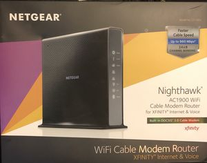 Netgear Nighthawk AC1900 WiFi Cable Modem Router for Sale in Tracy, CA