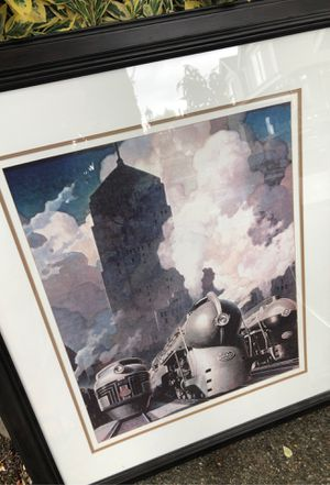 "Train framed art - 32"" x 38"" for Sale in Sumner, WA"