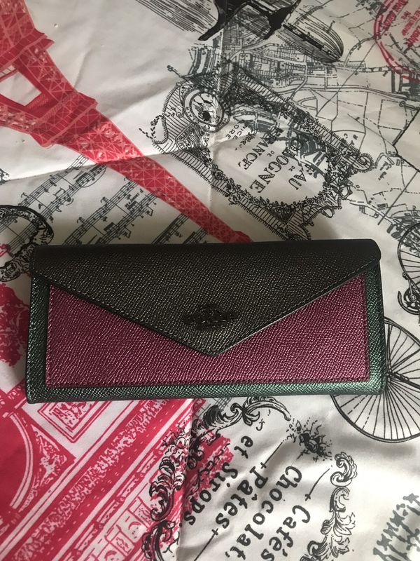 Coach soft colorblock wallet -large
