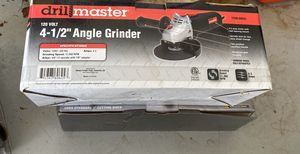 "Drill Master 120 volt 4 1/2"" angle grinder for Sale in New Port Richey, FL"