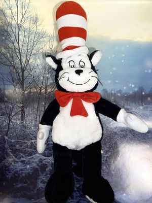 """build a bear dr. Seuss cat in the hat 24"""" plush toy. for Sale in Bellflower, CA"""