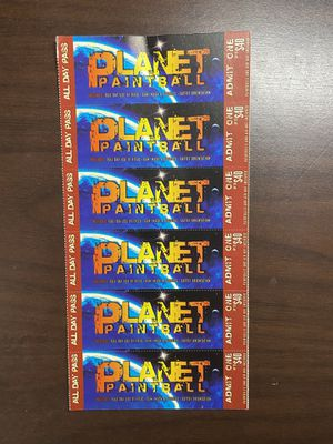 6 Paintball Admission Tickets for Sale in Irvine, CA