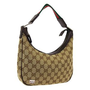 Pre Owned GUCCI GG Pattern Shelly Line Hand Bag Brown Canvas Leather for Sale in Henderson, NV