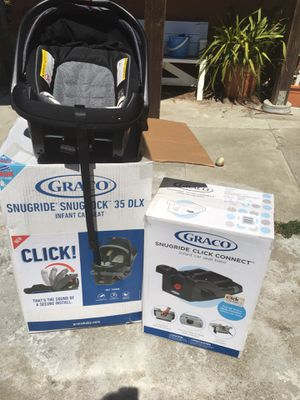 Graco Snugride Snuglock Infant Car seat with two bases for Sale in Millbrae, CA