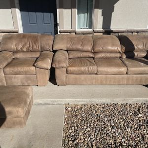 Beautiful Beige 3 Piece Furniture Set *Free Delivery* for Sale in Aurora, CO