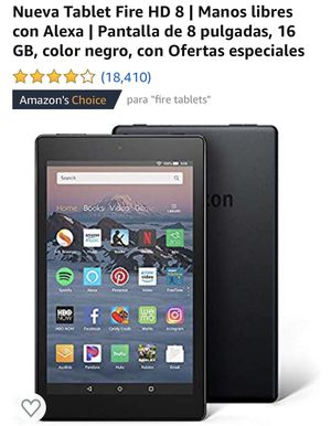 New Tablet / Nueva Tablet Fire HD 8 for Sale in Sunnyvale, CA