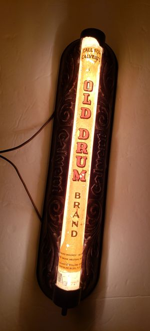 Calvert Old Drum Whiskey Brand Light - 1940s for Sale in Reinholds, PA