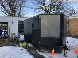 Enclosed 7x16 tandem axel trailer for Sale in Wheaton, IL