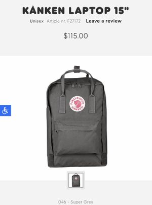 "Kanken laptop 15"" backpack for Sale in Chicago, IL"