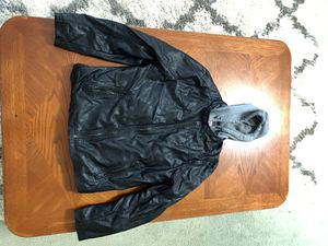 """Levi's """"leather"""" jacket/hoodie for Sale in Beaverton, OR"""