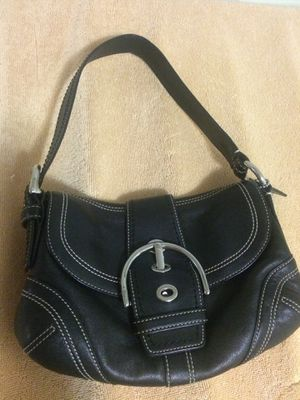 Genuine leather coach shoulder bag for Sale in Belmont, MA