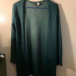 H&M Green Long Sleeve Cardigan for Sale in San Bernardino,  CA