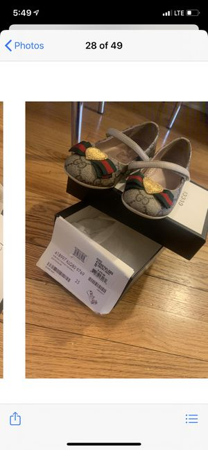 Kids size 9 Gucci shoes for Sale in Washington, DC
