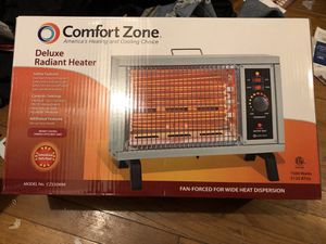 Comfort zone deluxe radiant heater for Sale in Norfolk, VA
