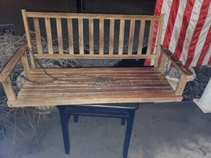 Wood porch swing for Sale in CANAL WNCHSTR, OH