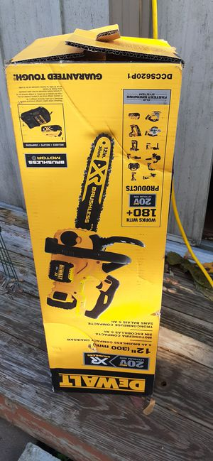 Dewalt brushless chainsaw battery and charger for Sale in Lynn, MA