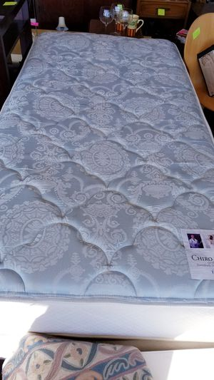 Twin bed mattress, box spring and metal frame. for Sale in Kent, OH