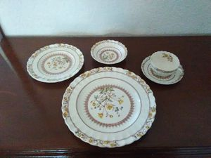 China, Fine Bone Antique 5 pc. set. for Sale in Seattle, WA