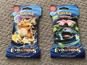 Pokemon Evolutions Booster 2 Packs for Sale in Herndon, VA