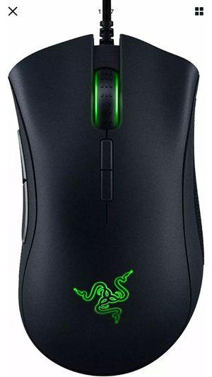 Razer DeathAdder Elite Wired Gaming Mouse - 16,000 DPI Optical Sensor - Black for Sale in Elgin, IL