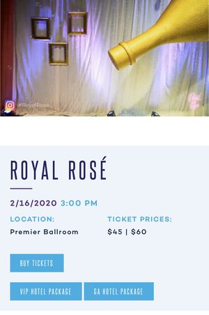 Tickets to Royal Rose at Foxwoods 2/16 3pm-6pm for Sale in North Kingstown, RI