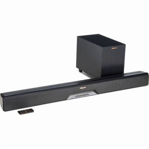 "Klipsch - Reference Series 2.1-Channel Soundbar System with 6-1/2"" Wireless Subwoofer and Digital Amplifier - Black for Sale in Alexandria, VA"