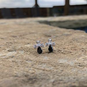 CZ Diamond Black Cross Earrings for Sale in Garland, TX