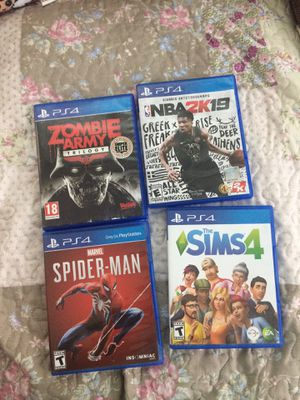4 PS4 Games perfect condition sale together for Sale in Fairburn, GA