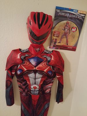 Boy's Red Power Ranger Costume Size- Med (8-10) for Sale in Maplewood, MN