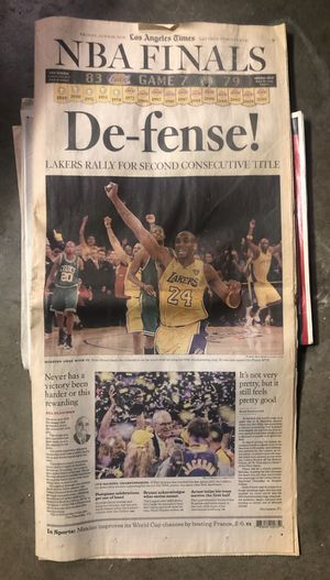 "Los Angeles Times ""NBA Finals"" Friday June 18, 2010 for Sale in Pico Rivera, CA"