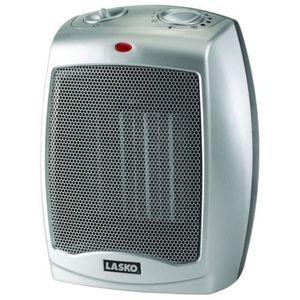Lasko Silver Ceramic Heater with Adjustable Thermostat for Sale in Philadelphia, PA