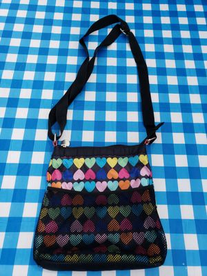Black with Colored Hearts Messenger Bag for Sale in Bonney Lake, WA