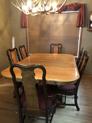 Oak dining table and chairs for Sale in Bremerton, WA