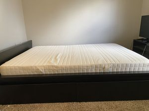 IKEA full Malm Bed Frame w/ 4 drawers and mattress for Sale in Portland, OR