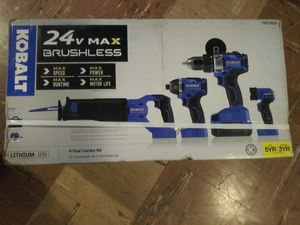 Kobalt 24v max brushless tool set plus hammer drill and angle grinder for Sale in Nashville, TN