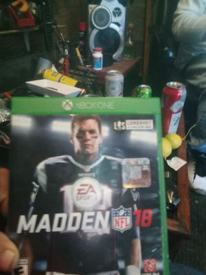 Madden 18 Xbox one for Sale in Fresno, CA