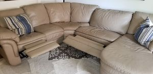 Tan Leather sectional for Sale in Bexley, OH