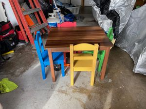 Wooden Kid's Table with 4 chairs for Sale in Brea, CA