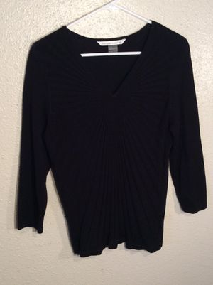 Brand New Black Women's Peter Nygard Long Sleeve Sweater Tunic Top in package - size M-L for Sale in Austin, TX