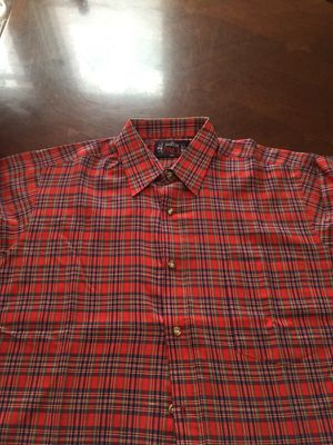 Short Sleeve Red Plaid Button Down Shirt for Sale in Detroit, MI
