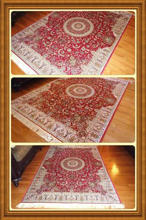 Brand new traditional design silk Area Rug size 8x12 for Sale in Springfield, VA