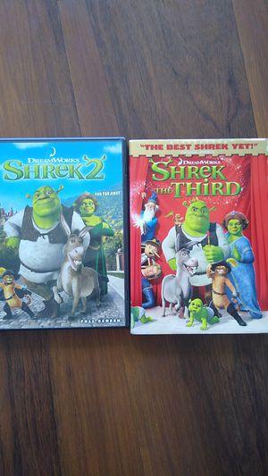 Shrek 2 & 3 DVDs for Sale in Miami, FL