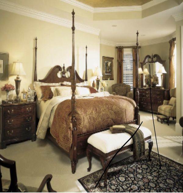 American Drew five piece bedroom set
