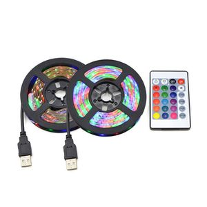 5V USB 2835 LED RGB Strip lamp light TV Backg Be round Decor Lighting Ribbon desk decor tape Strings 1M 2M 3M for Sale in Corona, CA