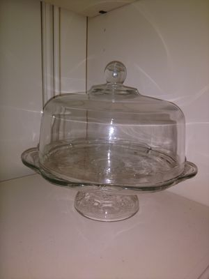 Glass cake dish for Sale in Cypress, TX