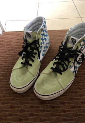 Vans lime green high tops great tread great used condition for Sale in Portland, OR