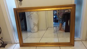 Wall gold frame mirror for Sale in Orlando, FL