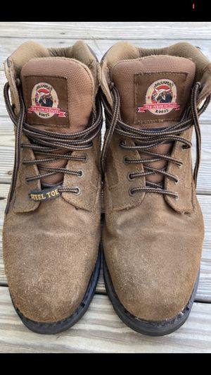 BRAHMA Mens steel toed work boots sz 8.5 for Sale in Woburn, MA