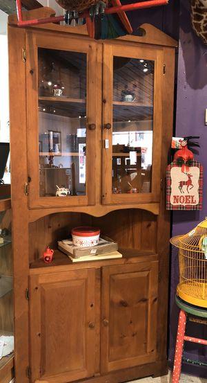 Vintage pine corner cabinet for Sale in Frederick, MD